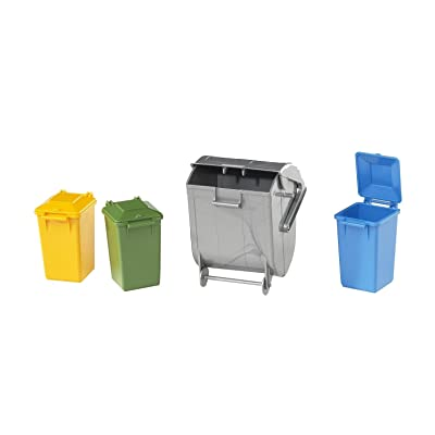 Bruder 02607 Accessories Garbage Can Set 3 Small/1 Large: Toys & Games