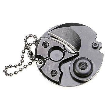 Amazon.com: TANKING - Llavero plegable con forma de moneda ...