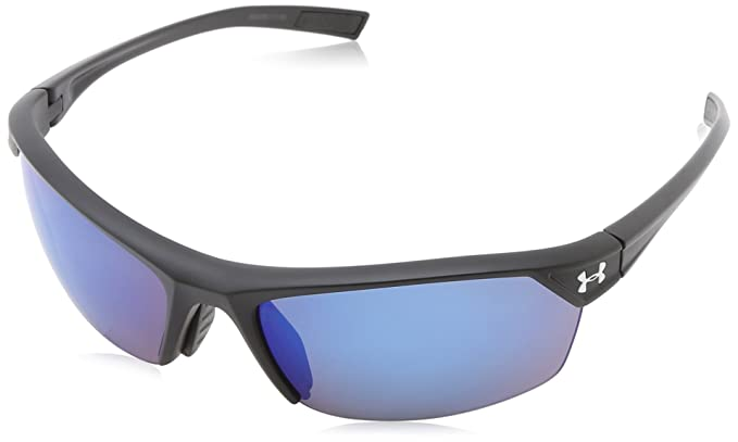 80e84223aa4c Under Armour Zone 2.0 Satin Black frame, with Black Rubber, and Gray-Blue