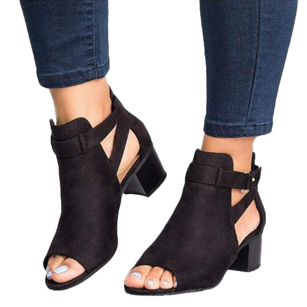 Sandalo da Donna Pelle Autunno Moda Fibbia in Pelle Donna Scarpe Scamosciata c989a4