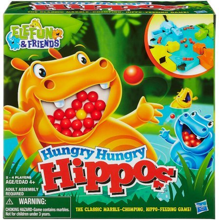 Multicolor Elefun & Friends Hungry Hungry Hippos Game