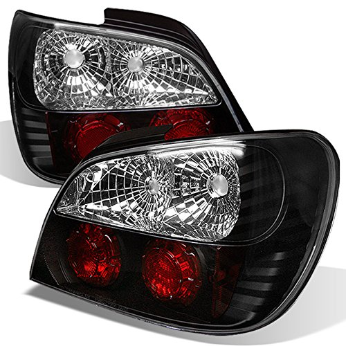 For 2002-2003 Subaru Impreza WRX RS Model Sedan 4Dr Black Tail Lights Lamp Left+Right Pair Replacement