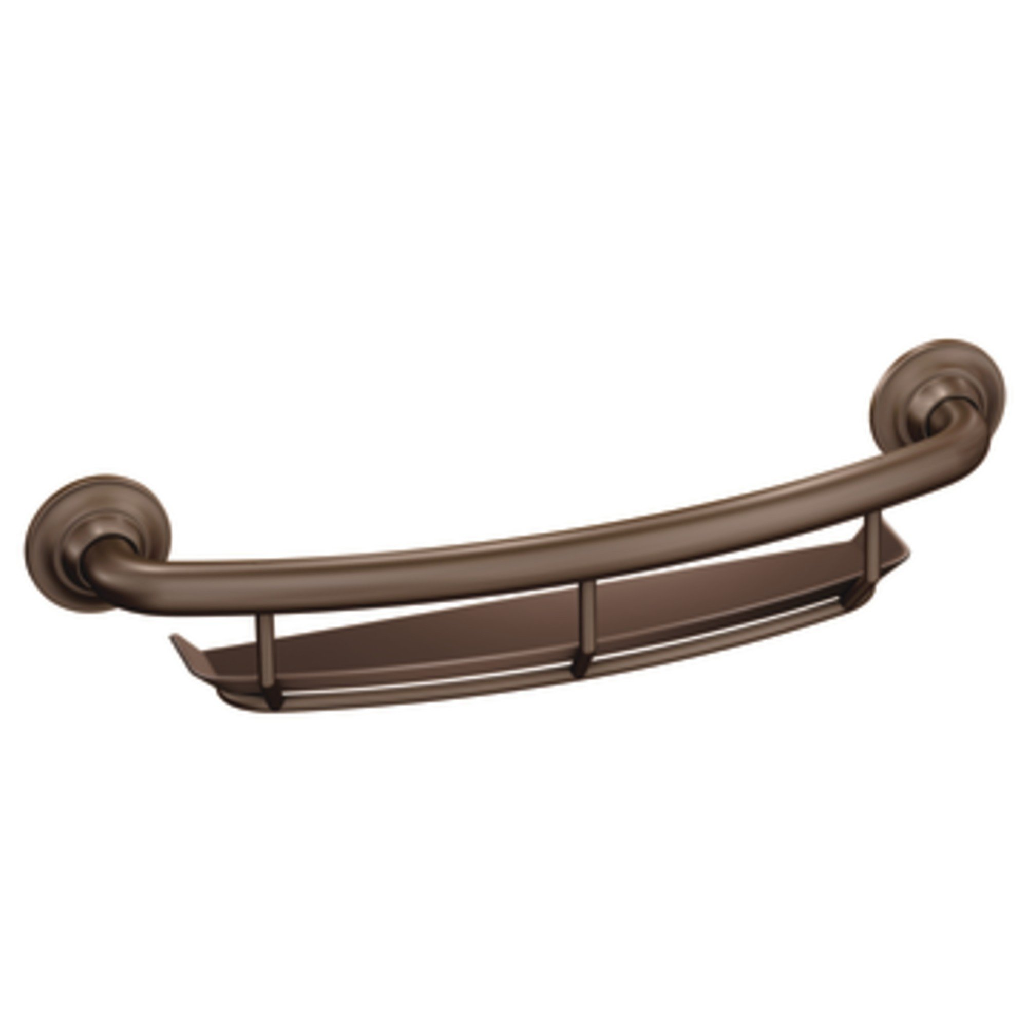 LR2356DOWB Moen LR2356DOWB Home Care 16-Inch Grab Bar with Shelf, Old World Bronze