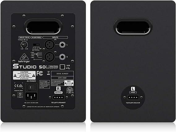 Behringer Studio 50Usb - Monitor de estudio: Amazon.es ...