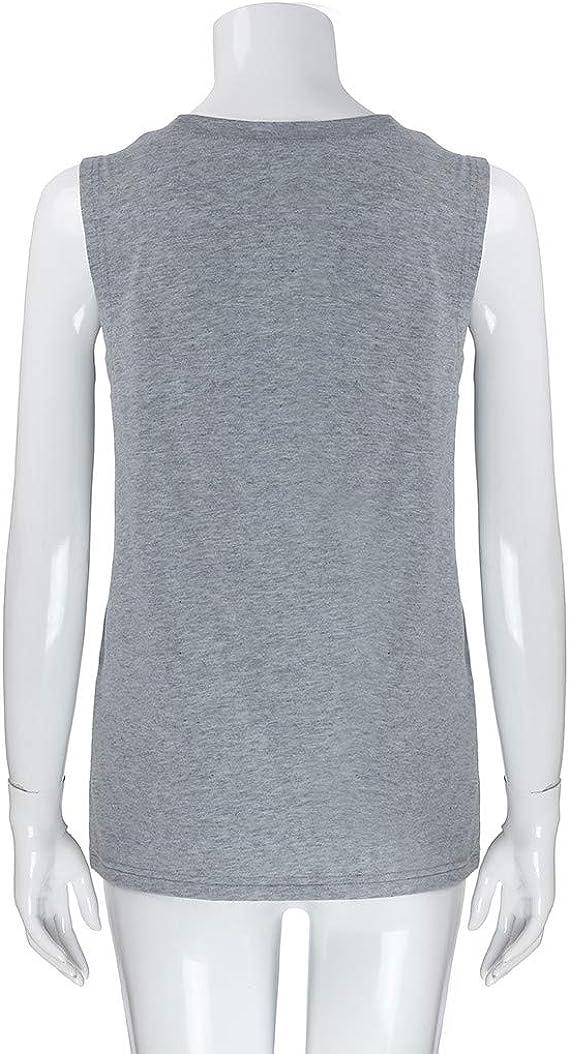 OPAKY Camiseta sin Mangas con Cuello Redondo de Verano ...