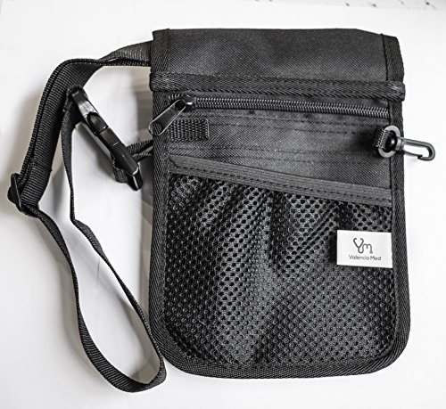 Valencia Med 2 Sided - 9 Pocket Organizer Utility Belt, Black by Valencia Med (Image #2)