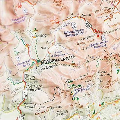 Mapa en relieve del Principado de Andorra: Escala 1:300.000: Amazon.es: All 3D Form, S.L.: Libros