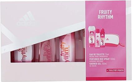 Adidas Fruity Rhythm Set Mujer Cuádruplo Edt 75 + Deo 150 + Gel 250 + Neceser: Amazon.es: Belleza