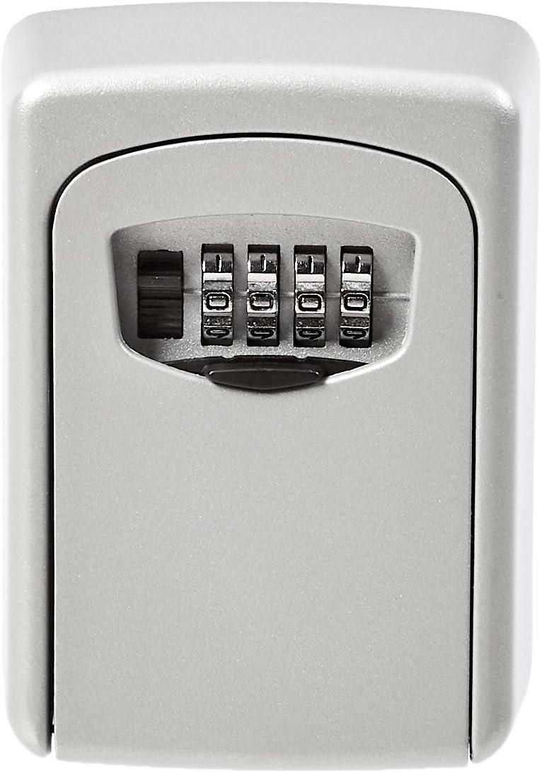AmazonBasics Wall Mounted Key Storage Box - Combination Lock - Grey