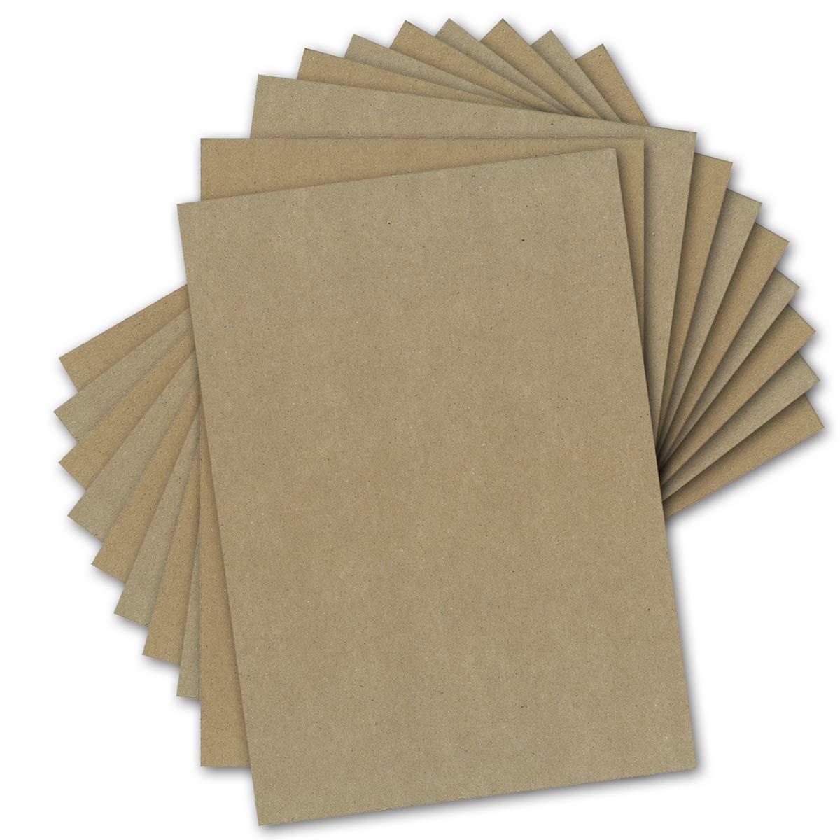 250 Kraftpapier-Karten DIN DIN DIN A5 Natur-Braun Umweltpapier 14,8 x 21,0 cm - 280 g m² Recycling-Papier 100% ökologische Kraft-Papier-Bogen von Ihrem Glüxx-Agent B07H7H3ZZR | Um Zuerst Unter ähnlichen Produkten Rang  62c6ac