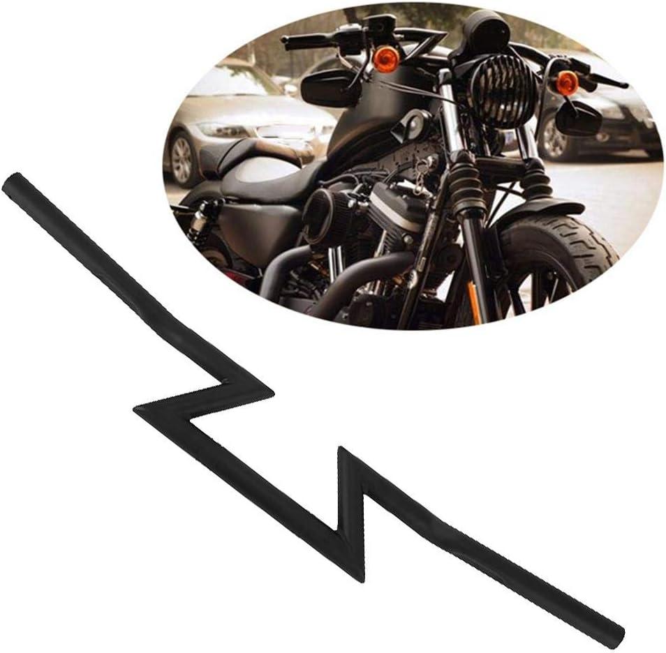 Acier Inoxydable Guidon de moto Terisass 1 pouce Poign/ée Z Bars Universel Modification Retro Accessoires Couleur Noir Fer