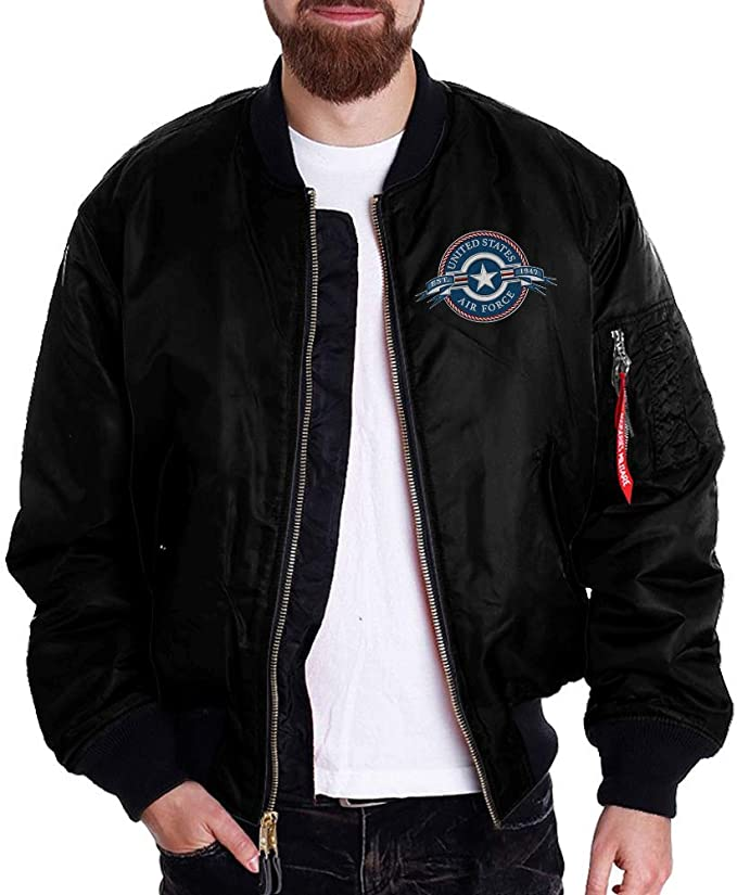 U.S Air Force Retired MA-1 Flight Embroidered Bomber Jacket