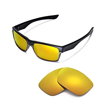 HKUCO Silver/Purple Polarized Replacement Lenses and Yellow Earsocks Rubber Kit For Oakley Juliet Sunglasses HqK4aqF0a