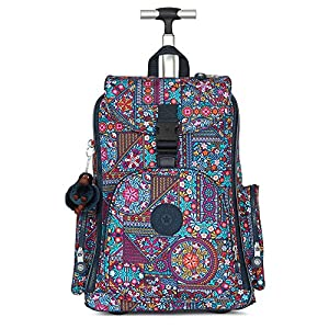 Kipling Women's Alcatraz Ii Printed Rolling Laptop Backpack One Size Dizzy Darling Multi
