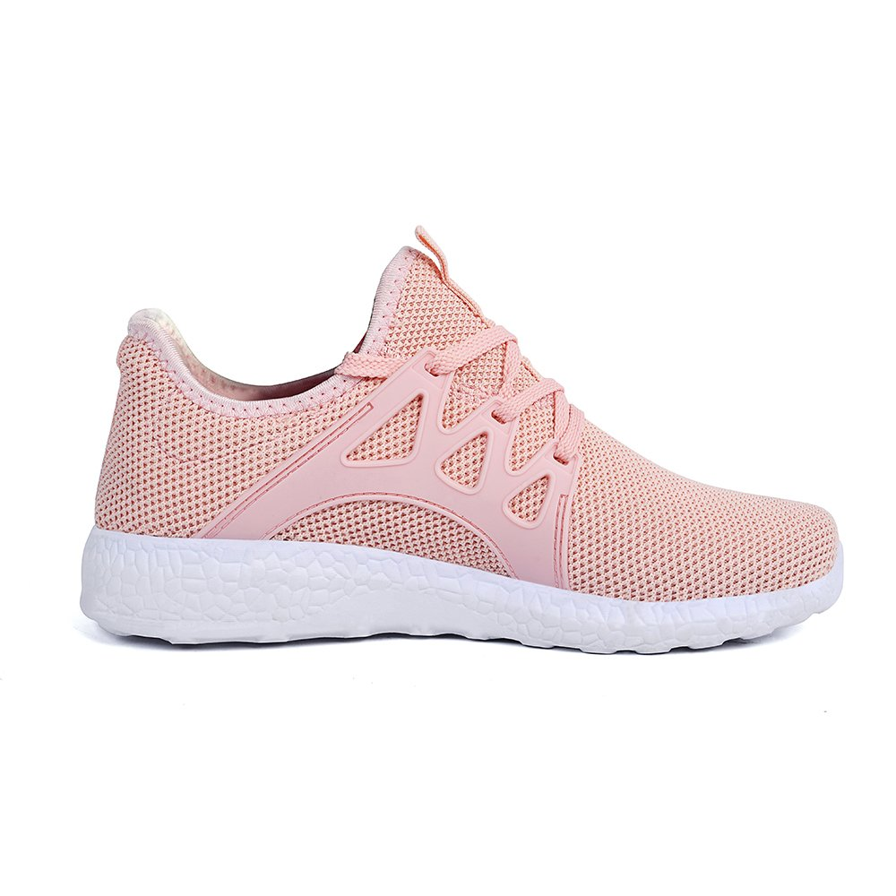 Feetmat Womens Sneakers Ultra Gym Lightweight Breathable Mesh Walking Gym Ultra Tennis Athletic Running Shoes B0788JZTG7 8 M US|Pink 66af2d