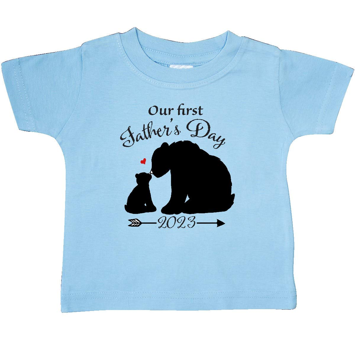 Bear Silhouette Baby T-Shirt inktastic Our First Fathers Day 2023 Bears