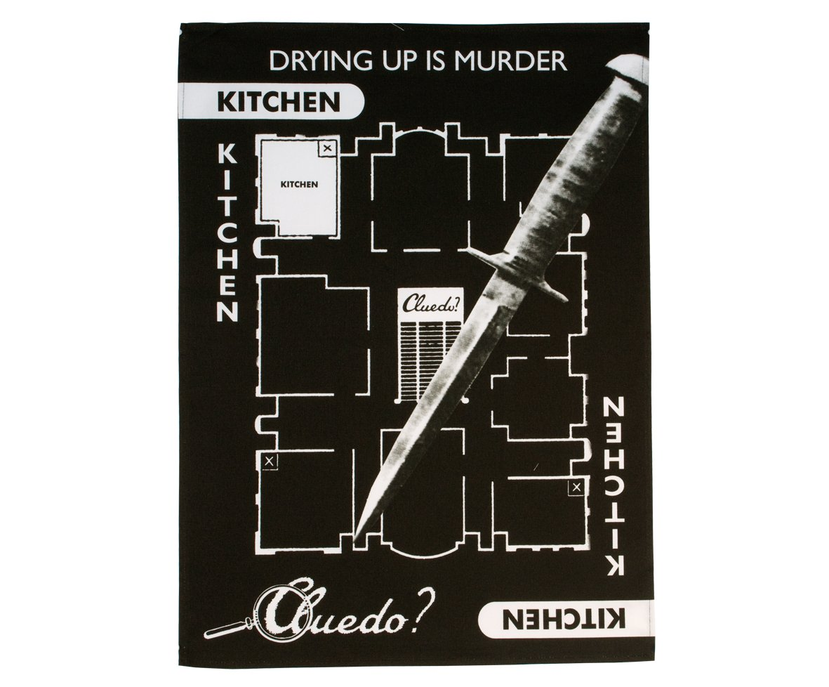 Gift Republic Cluedo Tea Towel by Gift Republic