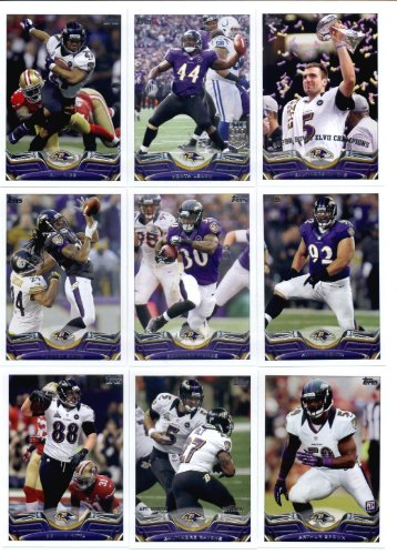 (2013 Topps NFL Football Team Set - Baltimore Ravens : 14 Cards > Baltimore Ravens SB XLVII Champs Vonta Leach Ray Rice Haloti Ngata Bernard Pierce Terrell Suggs Torrey Smith Baltimore Ravens Arthur Brown Dennis Pitta Matt Elam Elvis Dumervil Jacoby Jones Joe Flacco)