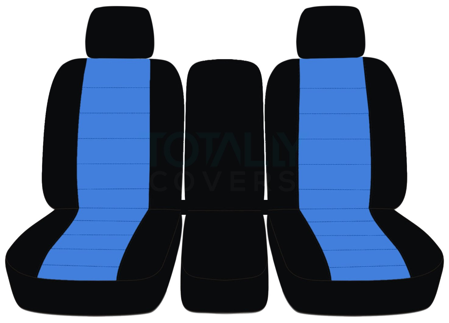 Designcovers 2009-2010 Ford F-150 Two-Tone Truck Seat Covers (Front 40/20/40 Split Bench) 2 Headrests & Opening Center Console/Solid Armrest: Black & Brown (21 Colors) F-Series F150