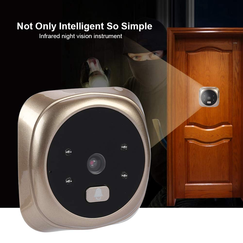 Intelligent Doorbell, 2.4 Inches HD LED Smart Home Peephole Viewer Digital Visual Doorbell with 135 Degrees Wide Angle/IR/Night Vision for House/Office/Apartment/Hotel by Sonew (Image #3)