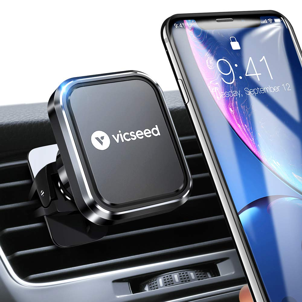 Magnetic Phone Car Mount, VICSEED Car Phone Mount 2019 Newest Air Vent Cell Phone Mount with 6 Strong Magnets Car Phone Holder for iPhone 11 Pro Xs Max XR X 8 Plus Samsung Galaxy Note 10+ 10 S10 S9 by VICSEED