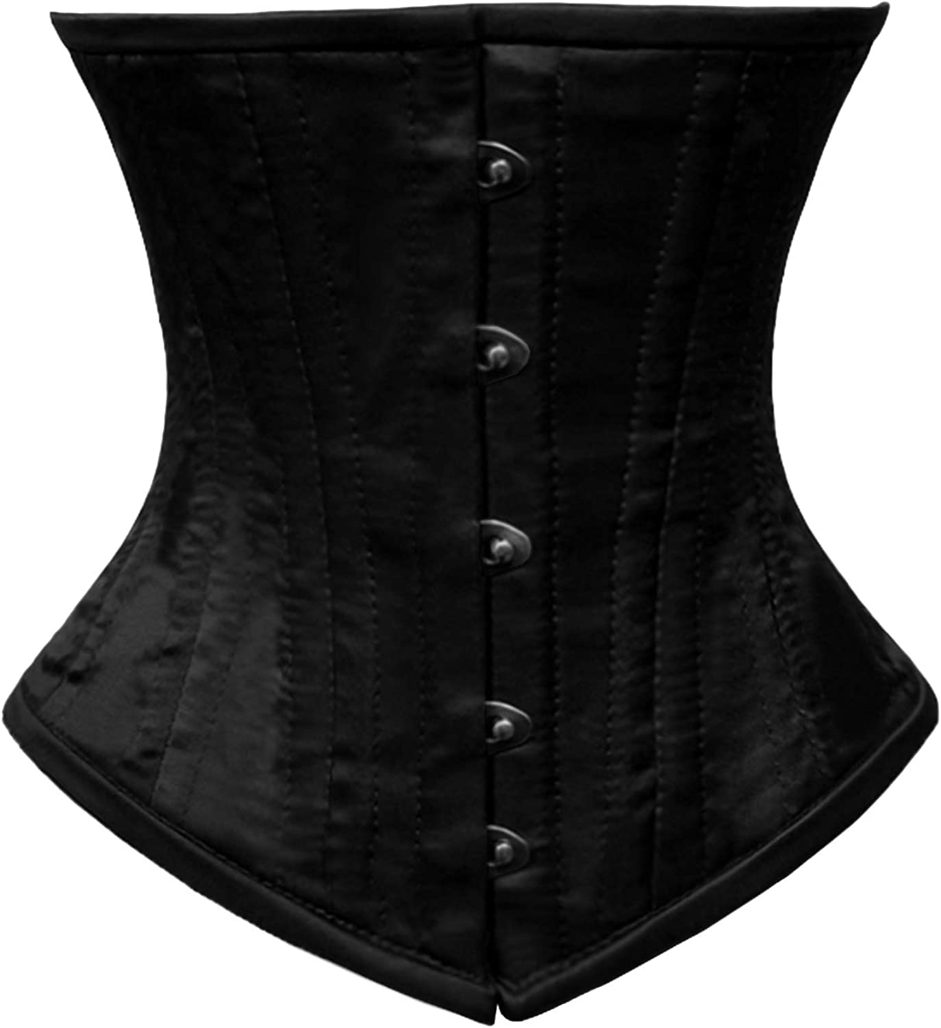 Heavy Duty Steel Boned Under Bust waist trainer Hourglass tight laces PVC Corset