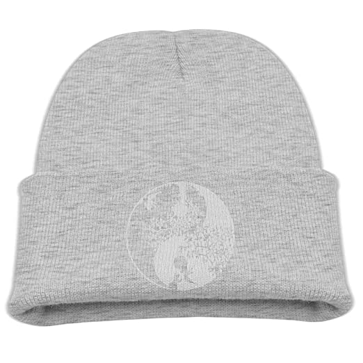 94fcbec42ca Nature Yin Yang Casual Children Cotton Stretchy Knitted Hat Kids Skull Beanies  Hat Ash