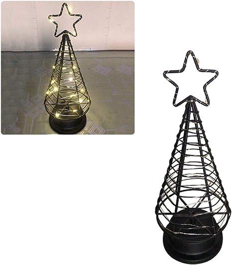 Lámpara de mesa decorativa para árbol de Navidad, funciona con pilas, luz de noche de hadas con luces LED para interior y decoración de mesa para el hogar, dormitorio, restaurante: Amazon.es: Iluminación