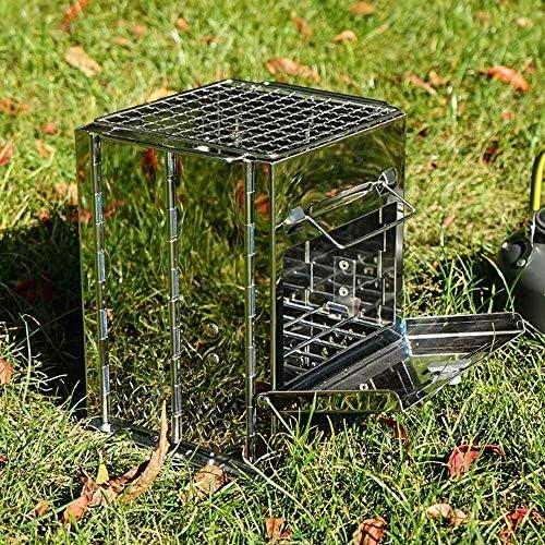 YLL Barbecue Portable Pliant Barbecue au Charbon Bureau extérieur Tout Tabletop en-Un Fumeur en Acier Inoxydable Barbecue for Pique-Nique Jardin Terrasse Camping Voyage