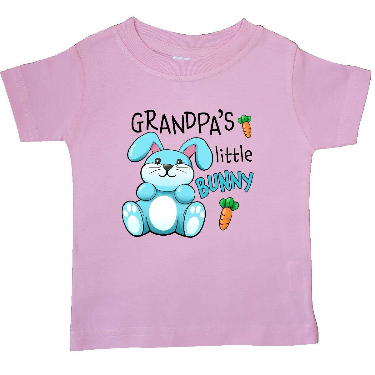 inktastic Grandpas Little Bunny Blue Baby T-Shirt