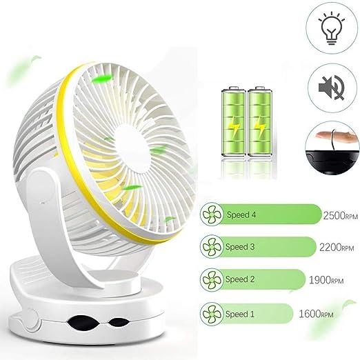 YQZ Portátil Recargable Mini Silencioso Ventilador de Clip ...