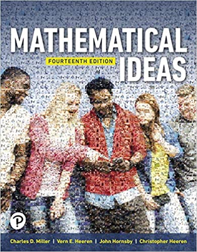 Mathematical Ideas 14th Edition Charles Miller Vern