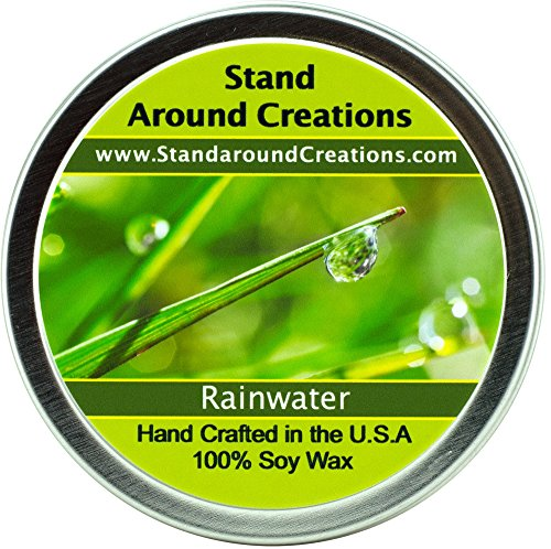 Premium 100% All Natural Soy Candle - 6 oz Tin - Rain Water: A very fresh clean scent.