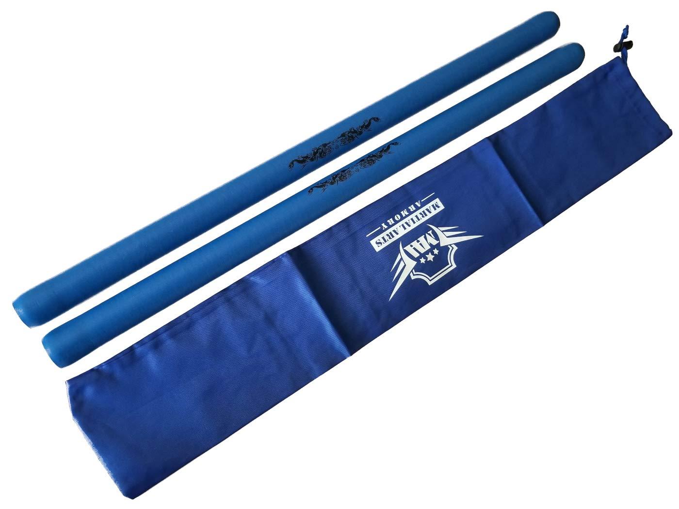 Martial Arts Armory AWMA Foam Escrima Sticks with Free Case Pair