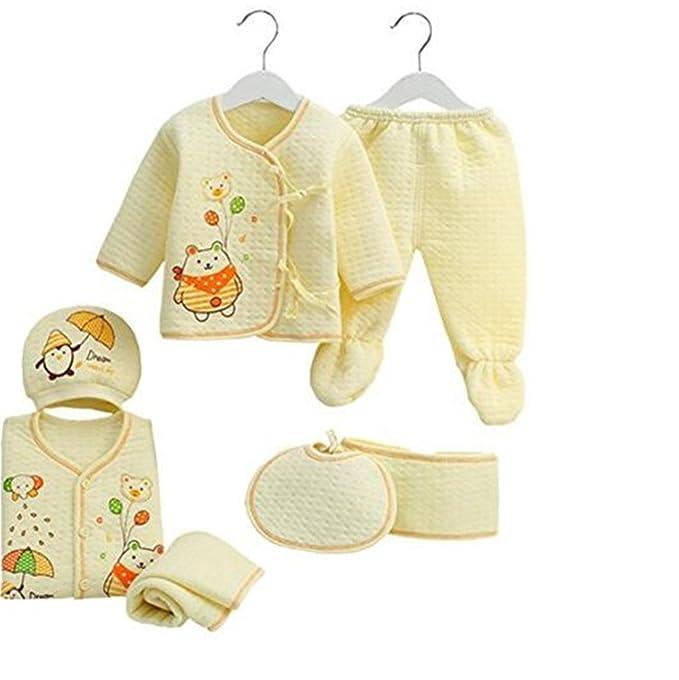 Trajes de ropa interior infantil de algodón recién nacido otoño 7pcs Malestar de animales básica Layette