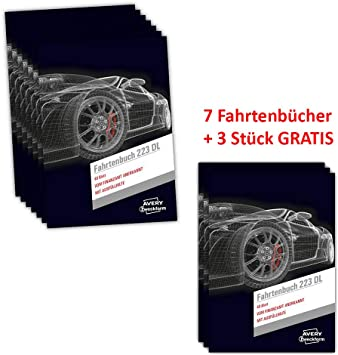 "AVERY Zweckform Formularbuch /""Fahrtenbuch/"" Drivers Edition DIN A6 quer 40 Blatt"