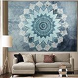 APHER India Bohemian Mandala Tapestry Wall Hangings Bedspread Blanket Beach Towel Wall Art for Living Room Bedroom Dorm Decor 60'' x 80''