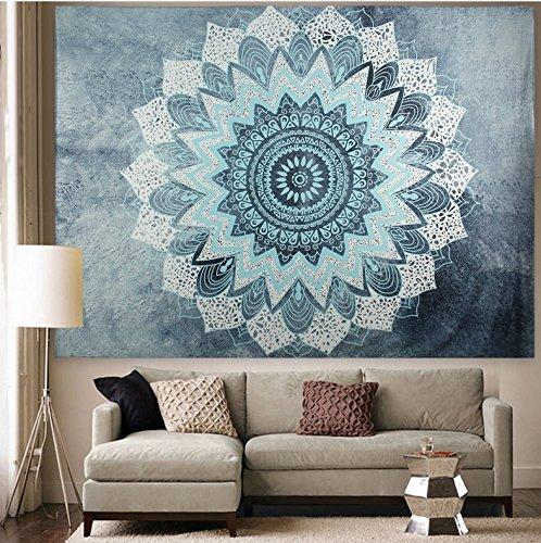 (APHER India Bohemian Mandala Tapestry Wall Hangings Bedspread Blanket Beach Towel Wall Art for Living Room Bedroom Dorm Decor 60