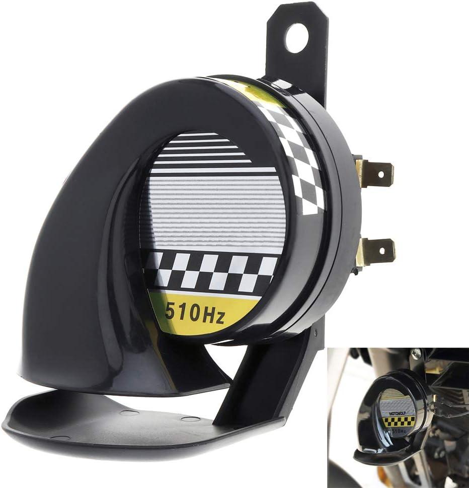 MoreChioce Universal Schneckenhorn Lufthorn 130DB 510HZ Elektrische Hupe Warnung Air Horn Wasserdichtes Schneckenf/örmiges Horn f/ür Auto PKW LKW Motorrad 12V Motorrad Lautsprecher