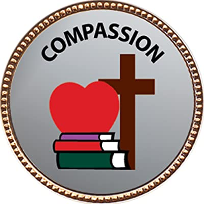 Keepsake Awards Compassion Award, 1 inch Dia Gold Pin Character Studies Collection: Toys & Games