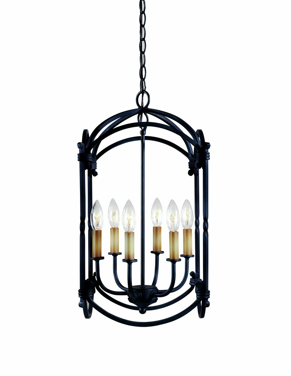 World Imports 61408-42 Hastings Collection 6-Light Hanging Lantern, Rust by World Imports Lighting