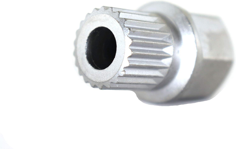 TEMO 33//17Pt Wheel Lock Nut Screw Removal Key Anti-Theft Lugnut Socket S3054 for Bmw Vehicles
