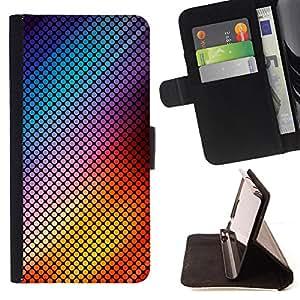 - Vibrant Dots Checkered Abstract - Estilo PU billetera de cuero del soporte del tir???¡¯????n [solapa de cierre] Cubierta- For Sony Xperia Z1 L39 £¨ Devil Case £©