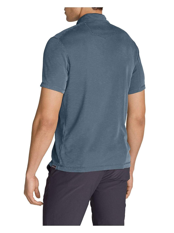 Eddie Bauer Mens Contour Performance Slub Polo Shirt