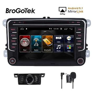 Android 9.1 - Sistema de navegación GPS para Coche con Pantalla táctil capacitiva de 7 Pulgadas para VW Volkswagen Golf Passat Tiguan Polo Jetta Skoda ...