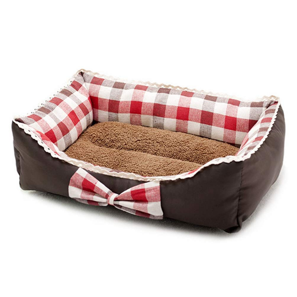 Red S Red S Jim Hugh Soft Warm Dog Beds Sofa Winter Dog Kennel for Small Medium Dogs Cushion Bench Pet Bed Mat Warm Pet Blanket