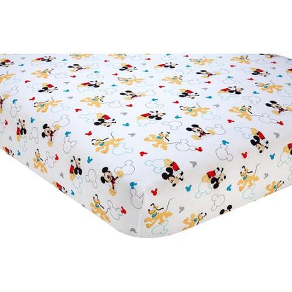 Disney Baby Let/'s Go Mickey Mickey Mouse Crib Sheet