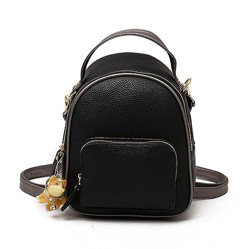 VHVCX Las mujeres Mochila monedero femenino de Piel mochilas mochilas de moda las niñas adolescentes Cruzado Rojo Mochila, Negro: Amazon.es: Zapatos y ...