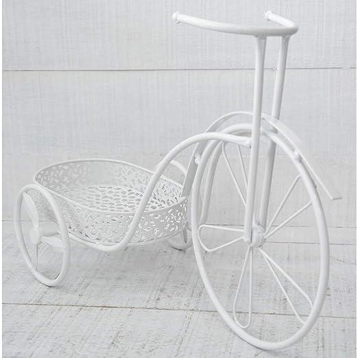 Hogar y Mas Bicicleta Macetero Blanco, realizado en Metal ...