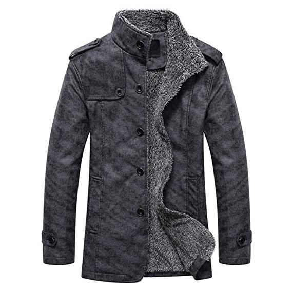 Amazon.com: Mens Insulated Full-Zip Windproof Sherpa Lined ...